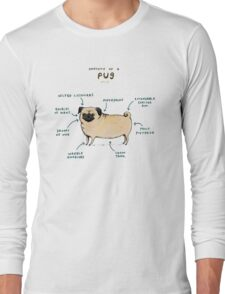 Anatomy of a Pug Long Sleeve T-Shirt
