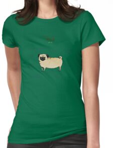 Anatomy of a Pug Womens Fitted T-Shirt