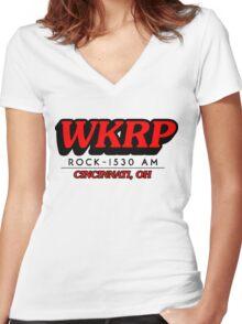 WKRP In Cincinnati T-Shirt Women's Fitted V-Neck T-Shirt