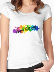 Born Artists - Black Version Women's Fitted Scoop T-Shirt