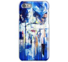 Abstract portrait - Three shapes coming out of blue iPhone Case/Skin