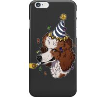 Red Parti Poodle iPhone Case/Skin