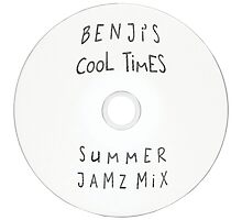 Parks and Recreation - Benji's Cool Times Summer Jamz Mix Photographic Print
