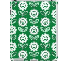 Green Fun Smiling Cartoon Flowers iPad Case/Skin