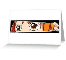 one piece straw hat nami anime manga shirt Greeting Card