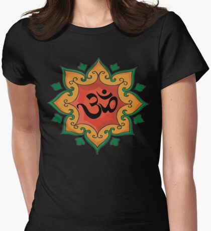 """Om"" India, Hindu, Hinduism T-Shirt Womens Fitted T-Shirt"