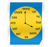 Funny French Clock Poster