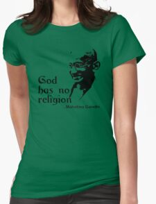 "Gandhi ""God Has No Religion"" T-Shirt T-Shirt"