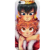 Kagehina Crow and crown iPhone Case/Skin