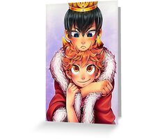 Kagehina Crow and crown Greeting Card