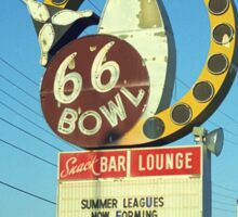 Route 66 Bowl Sticker