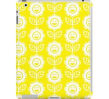 Yellow Fun Smiling Cartoon Flowers iPad Case/Skin