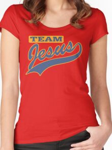 """Christian """"Team Jesus"""" Women's Fitted Scoop T-Shirt"""