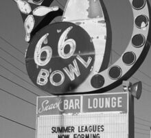 Route 66 Bowl Sticker