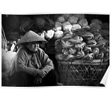 Vietnam - Eldery woman at markets Poster