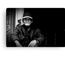Vietnam - Portrait of man in back streets of Dalat Canvas Print