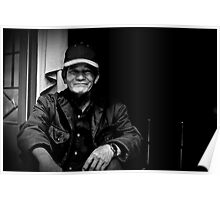Vietnam - Portrait of man in back streets of Dalat Poster