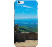 Saissac castle view iPhone Case/Skin