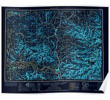 USGS Topo Map Washington Hoquiam 239705 1953 250000 Inverted Poster