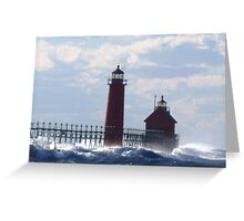 Storm on the water Greeting Card