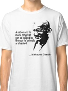 Animal Rights Mahatma Gandha Classic T-Shirt