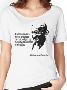 Animal Rights Mahatma Gandha Women's Relaxed Fit T-Shirt