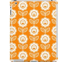 Orange Fun Smiling Cartoon Flowers iPad Case/Skin