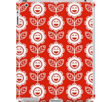 Red Fun Smiling Cartoon Flowers iPad Case/Skin