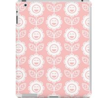 Light Pink Fun Smiling Cartoon Flowers iPad Case/Skin