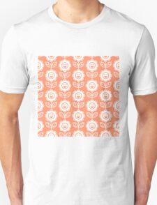 Coral Fun Smiling Cartoon Flowers Unisex T-Shirt
