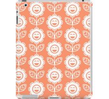 Coral Fun Smiling Cartoon Flowers iPad Case/Skin