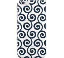 Navy Geometric Swirl Pattern iPhone Case/Skin