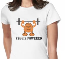 "Vegetarian ""Veggie Powered"" T-Shirt Womens Fitted T-Shirt"