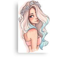 Mermaid Hair Canvas Print