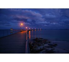 Esperance Jetty by night Photographic Print