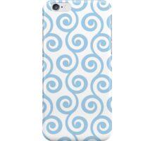 LightBlue Geometric Swirl Pattern iPhone Case/Skin
