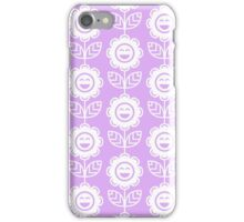 Lilac Fun Smiling Cartoon Flowers iPhone Case/Skin