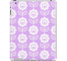 Lilac Fun Smiling Cartoon Flowers iPad Case/Skin