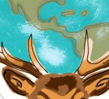 Earth on Deer Sticker