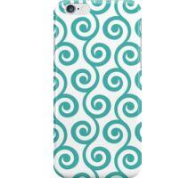 Teal Geometric Swirl Pattern iPhone Case/Skin