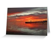 Sunrise over Promenade Greeting Card
