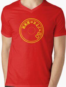 Camera Mode Dial Mens V-Neck T-Shirt