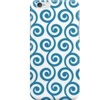 Blue Geometric Swirl Pattern iPhone Case/Skin