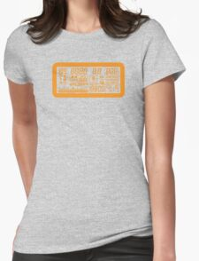 Canon Camera LCD panel Womens Fitted T-Shirt