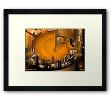 SPATIAL CITY Framed Print