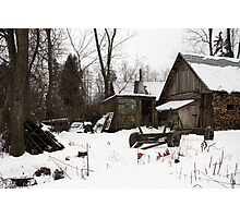 In winter - old farmer house Photographic Print