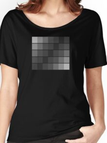greyscale blocks Women's Relaxed Fit T-Shirt