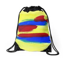 Abstract in Primary Drawstring Bag