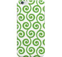 GrassGreen Geometric Swirl Pattern iPhone Case/Skin