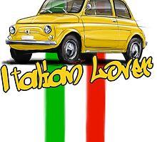 Fiat 500 Italian Lover by RDisegno